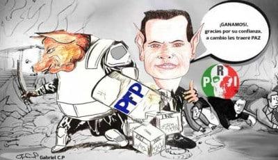 Triunfo efímero del PRI de Peña Nieto. Caricatura: Gabriel C. P.