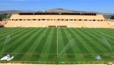 Obras inauguradas por Gabino. Campo de futbol Tecnológico. Foto: Cortesía