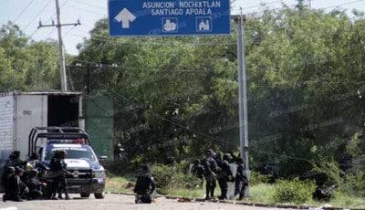 La Policía Estatal también se sumó a los balazos. Fotoes.mx